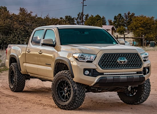 Body Lift Vs Suspension Lift >> Biggest Tire on Stock Toyota Tacoma (With /Without Lift ...
