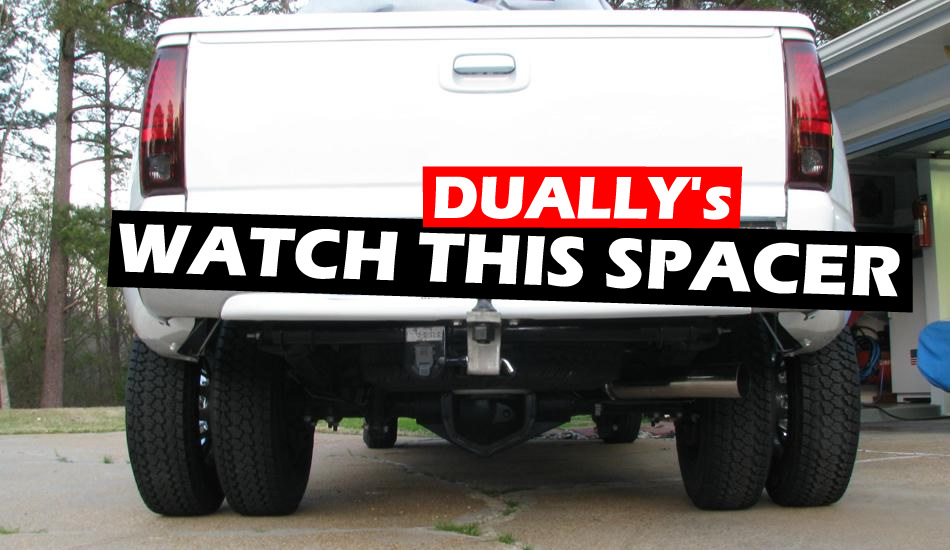 How much space do you need between dually tires