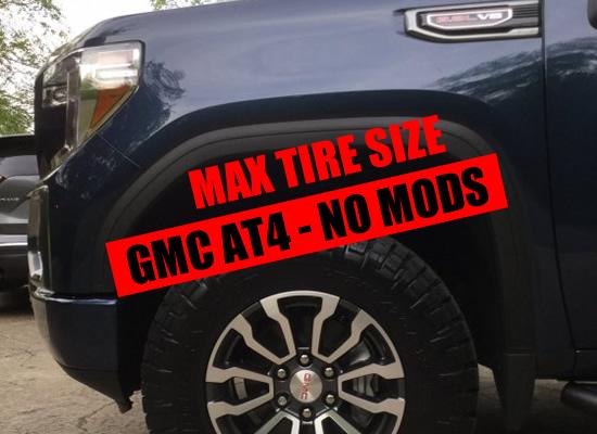 GMC AT4 MAX TIRES